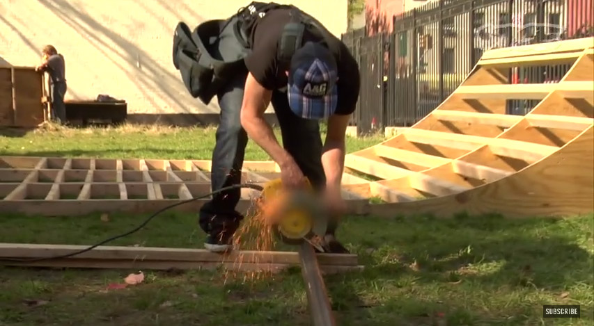 How to build a skate mini ramp